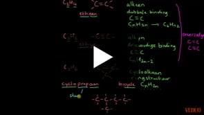 Formules van cycloalkanen en aromaten