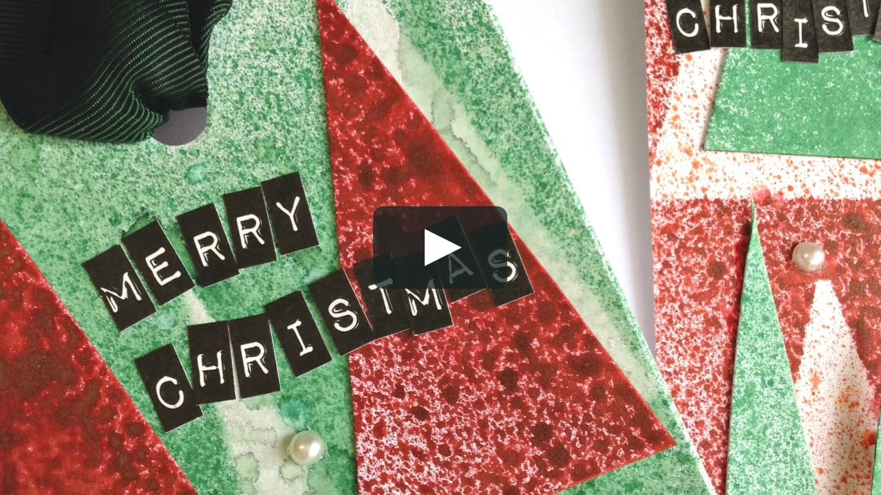 Papercraft Simple and easy Christmas tags
