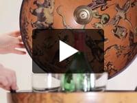 Bar glob pamantesc de birou, meridian lemn