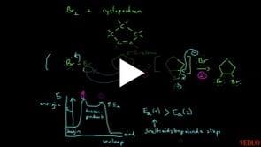 Reactiemechanisme van Additiereactie Cycloalkeen