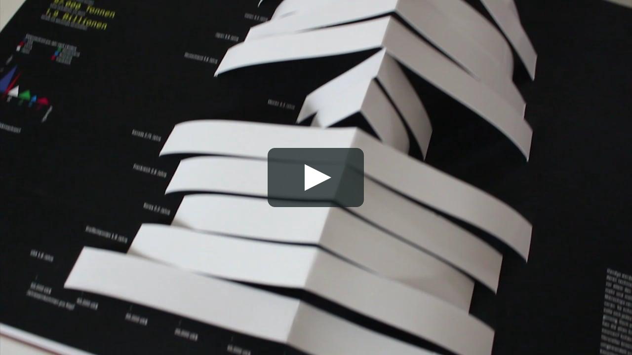 Papercraft »digitalien« Bachelor Thesis / Pop-up Book Walkthrough