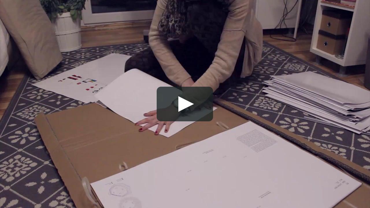 Papercraft Making of »digitalien«, an infographic pop-up book