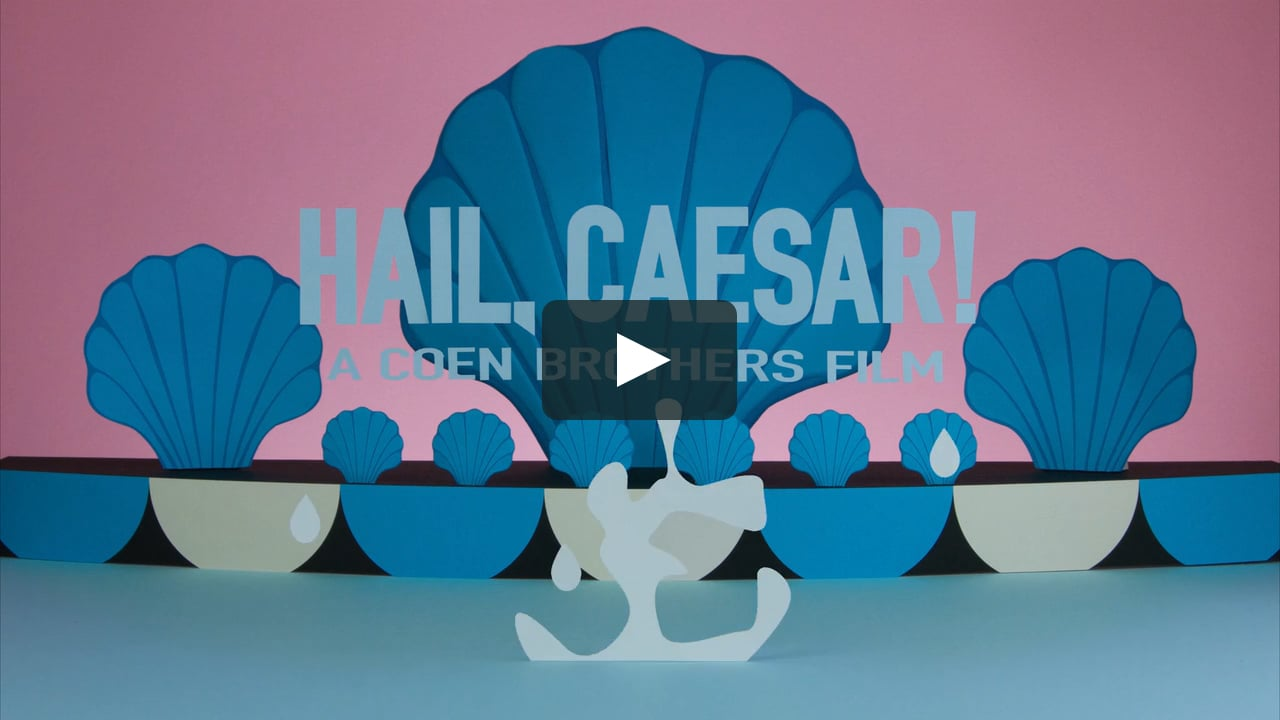 Papercraft The Coen Brothers 'Hail, Caesar!' teaser