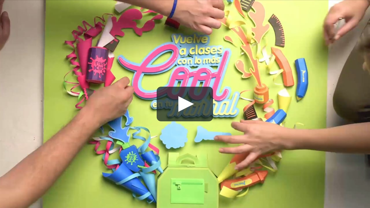 Papercraft Making Of - Vuelve a clases con Fres Kids y Norma