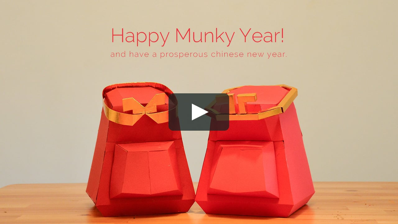 Papercraft CNY Munky Papercraft
