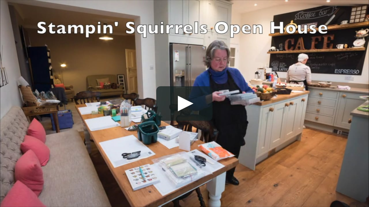 Papercraft Stampin' Squirrels Open House