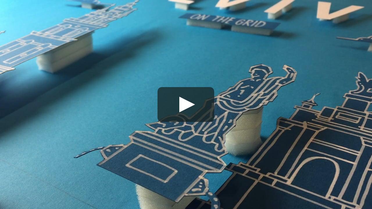 Papercraft Lviv On the Grid