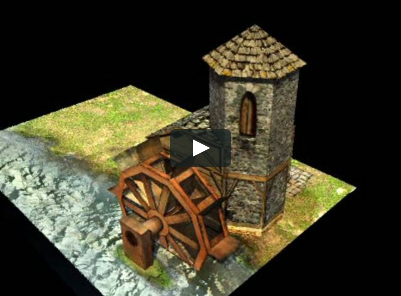 Papercraft Watermill