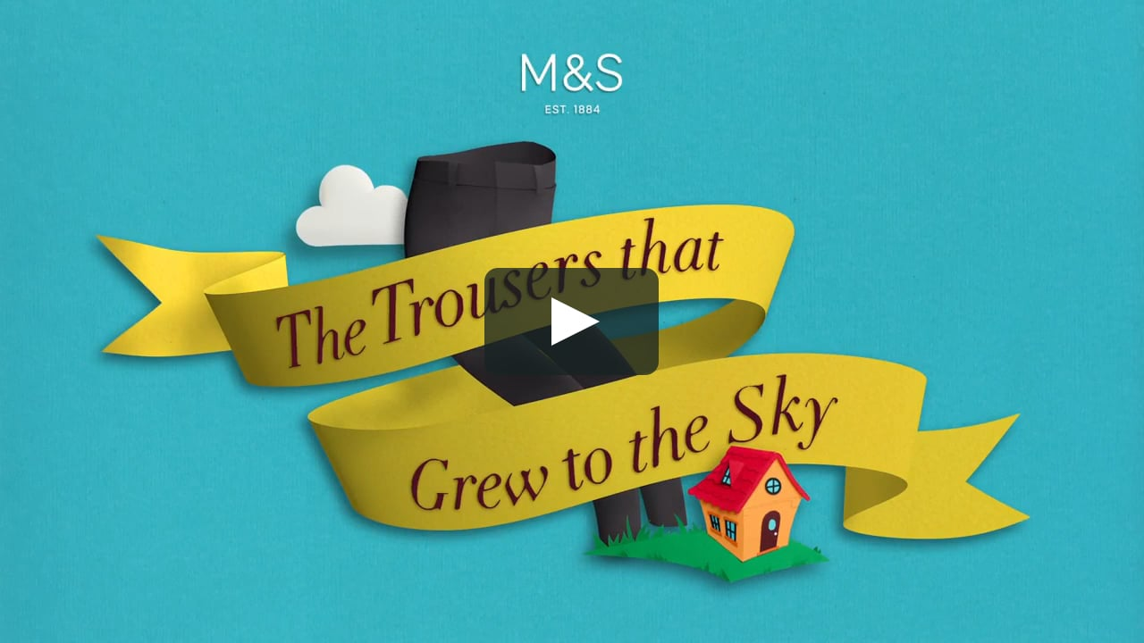 Papercraft M&S School- The Trousers that Grew to the Sky