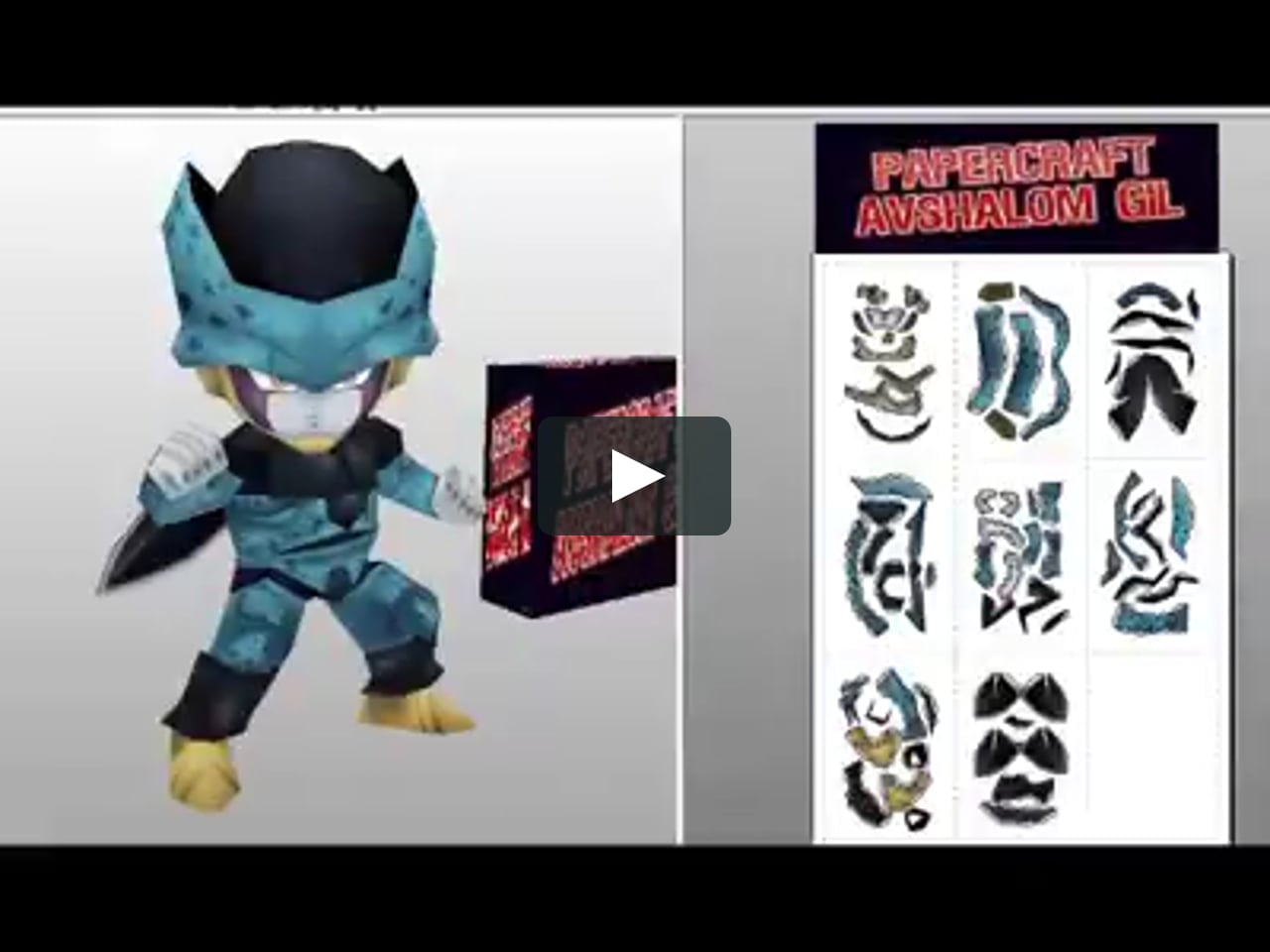 Papercraft Papercraft, Dragon Ball Super, Vegeta ssj4, Trunks, Kaos, Cell Jr-Chibi