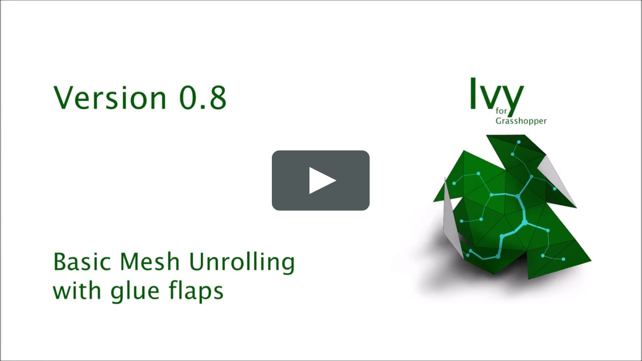 Papercraft Ivy_08 Tutorial Mesh unrolling with standard flaps