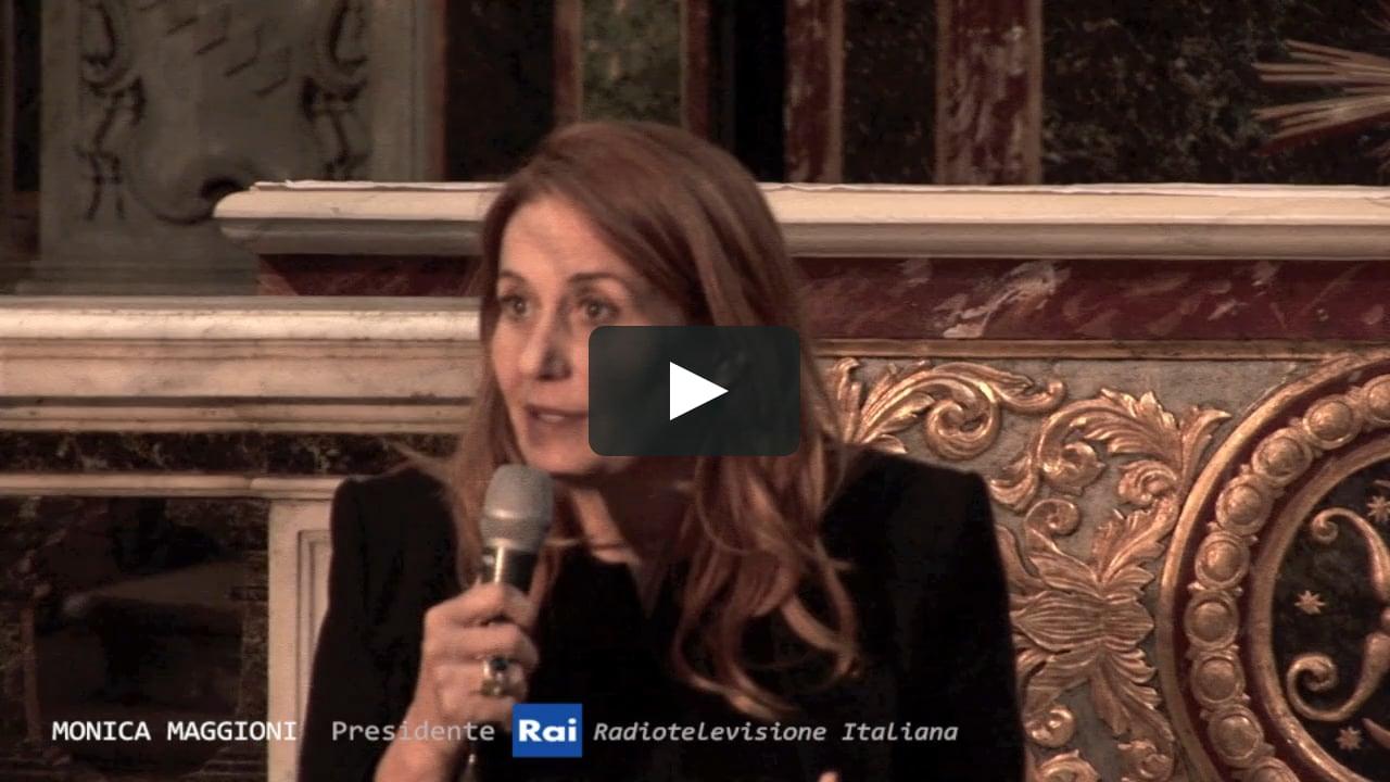 """""""Comunicare speranza e fiducia nel nostro tempo"""" Intervento di: Monica Maggioni."""