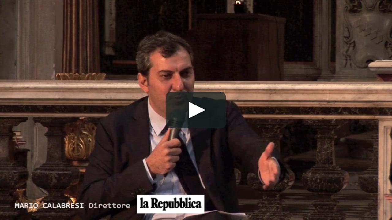 """""""Comunicare speranza e fiducia nel nostro tempo"""" Intervento di: Mario Calabresi."""