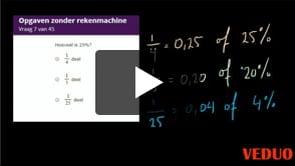 Examen Rekenen 2F -  Deel 2