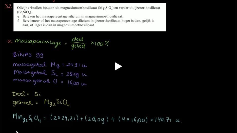4 Havo Hoofdstuk 1 vraag 32e & 32f
