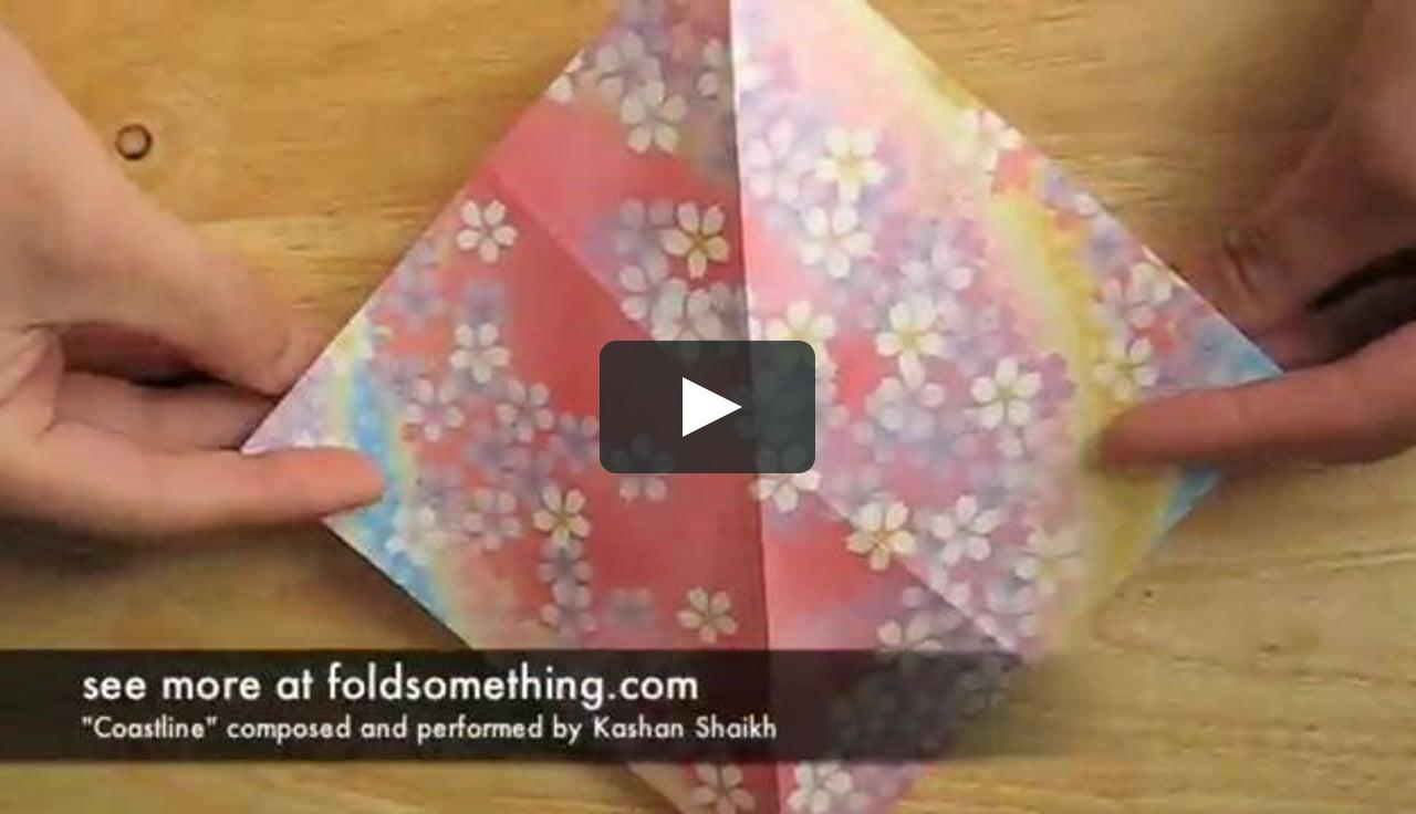 Papercraft how to make an origami cherry blossom