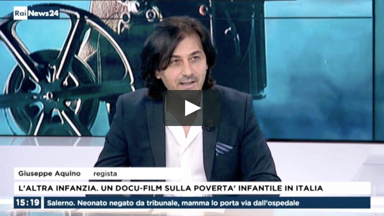 Intervista al regista Giuseppe Aquino al TG di Rai News 24