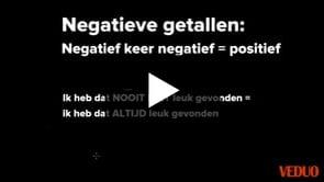 Negatieve Getallen - Min keer min is plus