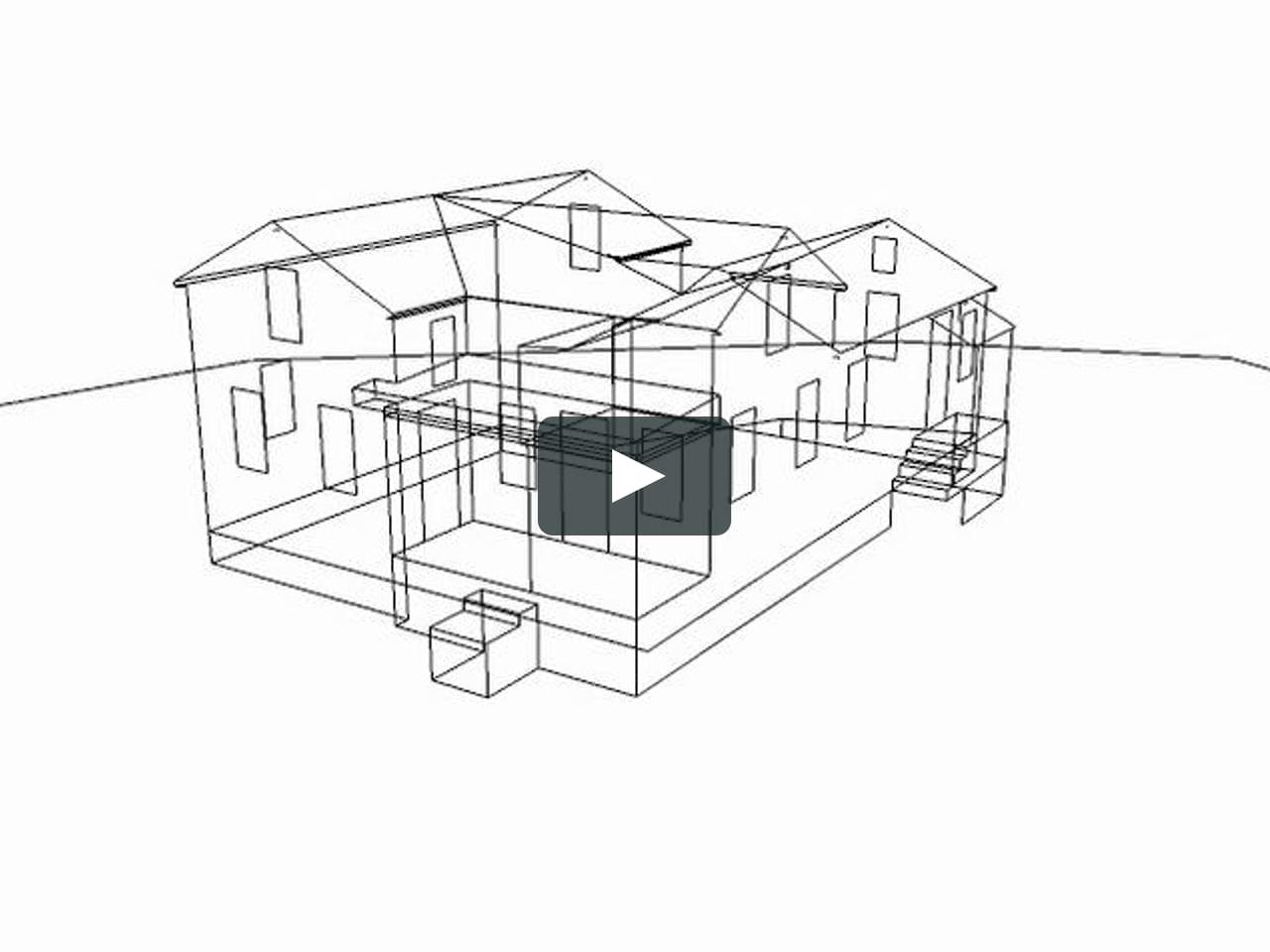 Papercraft A 3D digital farm house