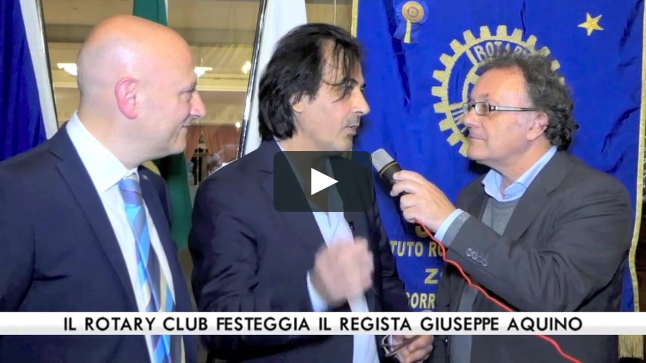 Il regista Giuseppe Aquino, festeggia trent'anni di carriera a Sorrento e Capri con il Rotary Club
