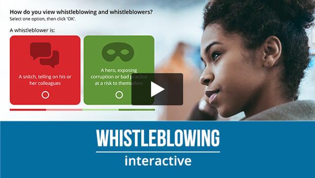 Whistleblowing online training video