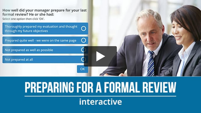 Preparing For a Formal Review