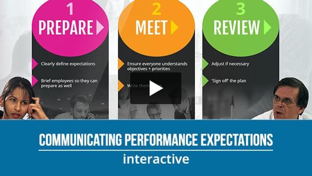 Communicating Performance Expectations