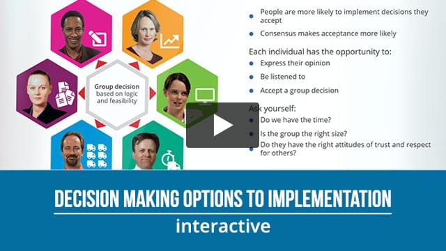 Decision Making: Options to Implementation