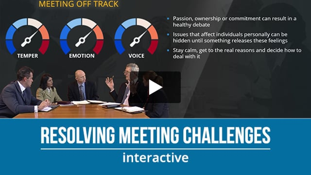 Resolving Meeting Challenges