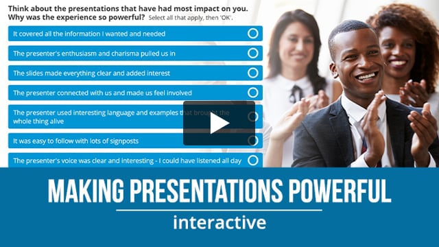 Making your presentations powerful