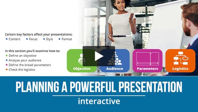 Planning A Powerful Presentation