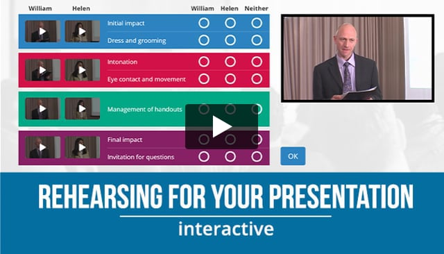 Rehearsing For Your Presentation