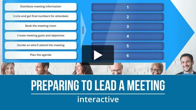 Preparing to lead a meeting