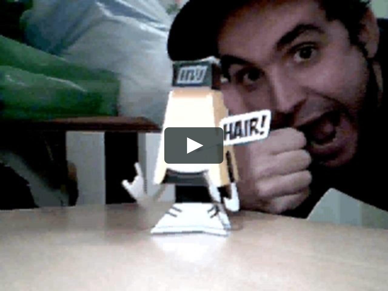 Papercraft Montando un papertoy: Hair