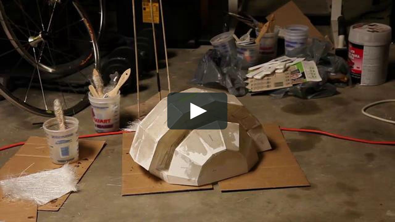 Papercraft fiberglass mohawk hat