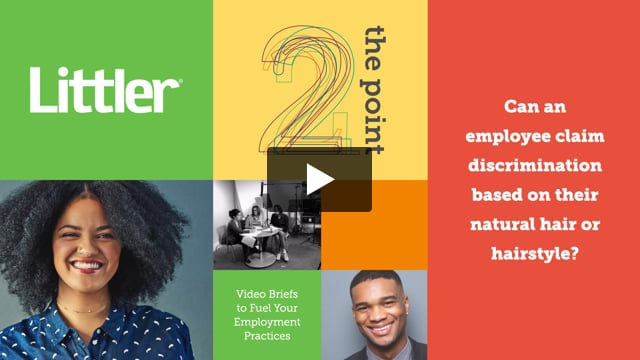 Can an employee claim discrimination based on their natural hair or hairstyle?