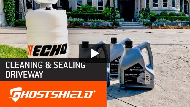 Micro-Degreaser™ 1100 Concrete Cleaner / Siloxa-Tek® 8510: View the Micro-Degreaser 1100™ a non-acid-based, non-toxic industrial grade cleaner and the Siloxa-Tek® 8510 concrete sealer a deep-penetrating oil and salt repellent and stain resistant sealer in action.