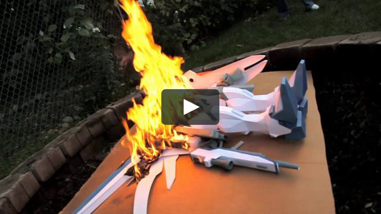 Papercraft The Burning of