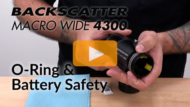 O-Ring and Battery Safety | Macro Wide 4300 Video Light