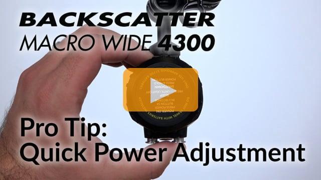 Pro Tip: Power Adjustment   Macro Wide 4300 Video Light