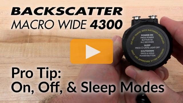Pro Tip: On, Off, & Sleep   Macro Wide 4300 Video Light