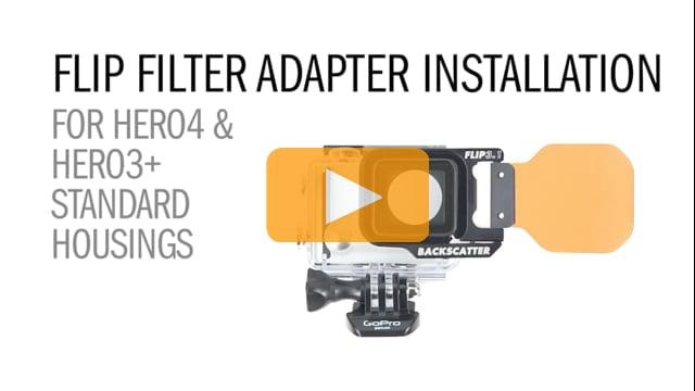 GoPro Hero4 and Hero3+ Standard Housing Flip Filter Adapter Installation