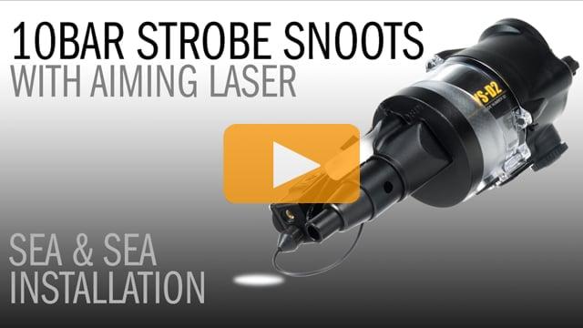 10Bar Underwater Strobe Snoot with Aiming Laser on Sea&Sea YS-D1 & YS-D2 Underwater Strobes