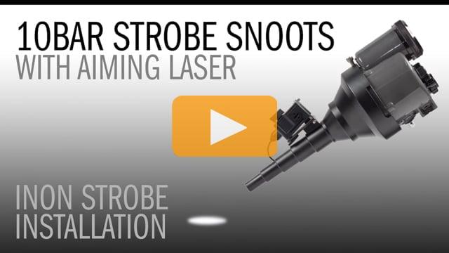 10Bar Underwater Strobe Snoot with Aiming Laser on Inon Z240 & D2000 Underwater Strobes
