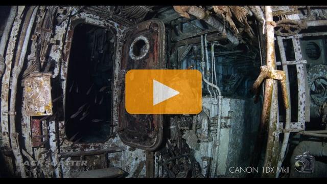 Canon 1Dx Mark II - Underwater High ISO Test - Wreck of MV Tibbetts