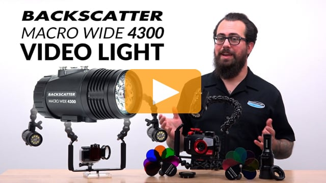 Backscatter Macro Wide Video Light MW-4300 | The Best Underwater Video Light