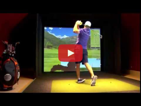 Jordan Spieth with the TruGolf Simulator