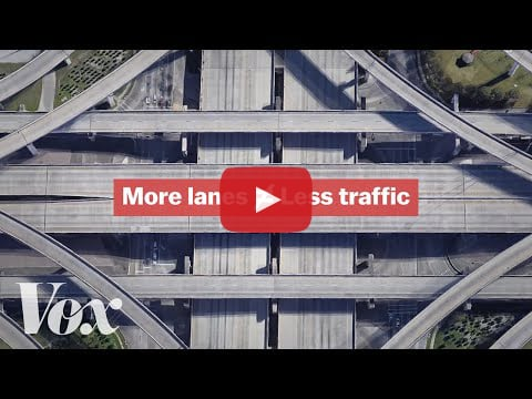 Video about adding traffic lanes doesn't solve congestion.