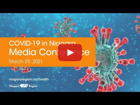 Video link for COVID-19 media conference on Mar. 29, 2021