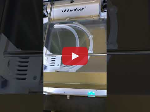 This is a video clip of the 3D printer printing personal protective equipment parts for front line workers
